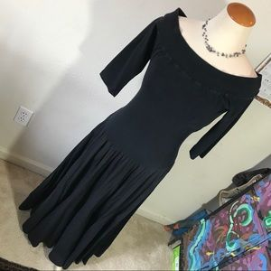 Luna Luz Witchy Black Flowy Stretch Dress